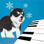 3D Singing Husky Puppy Piano