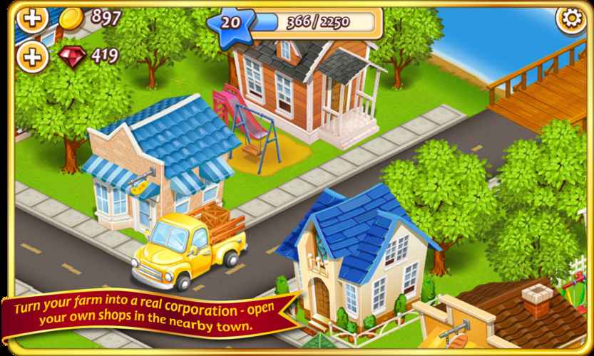 Free Farm Town™: Cookie Day cell phone game