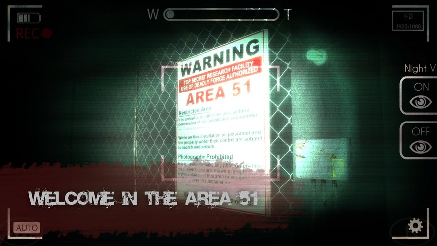Free Slender Man: Area 51 cell phone game