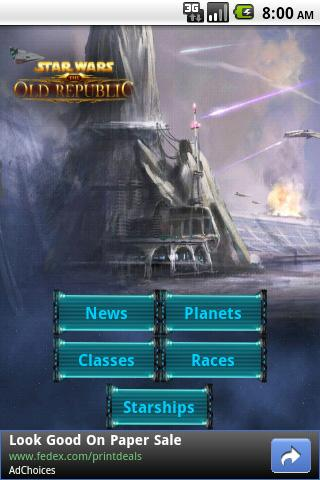 Free SWTOR News cell phone game