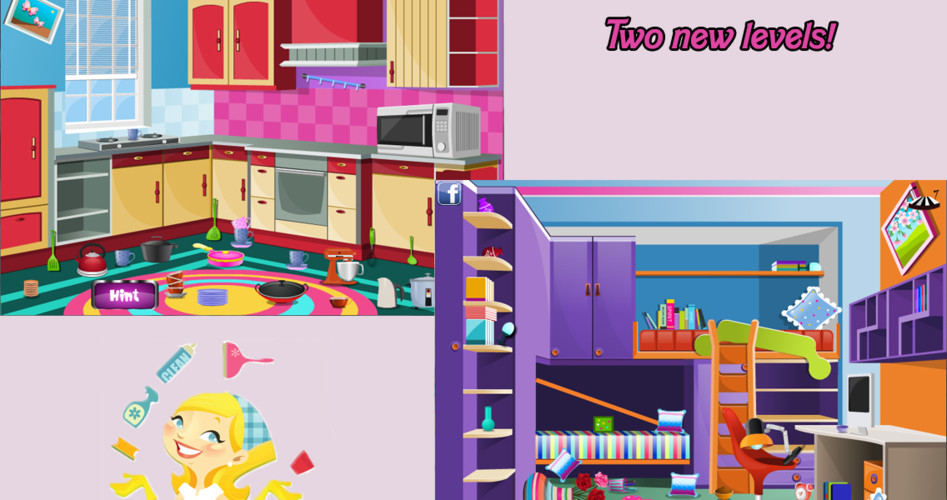 Free Big house clean Up decoration cell phone game