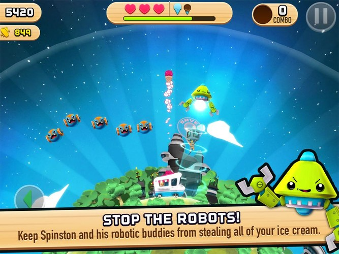 Free Robots Love Ice Cream cell phone game