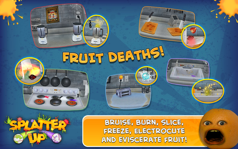 Annoying Orange: Splatter Free screenshot 2